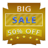 Big sale poster. Banner of flyer design of big sale with 50% off Stock Image