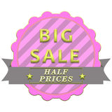 Big sale poster stock illustration