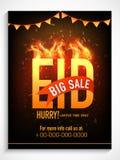 Big sale poster, banner or flyer for Eid celebration. Royalty Free Stock Image