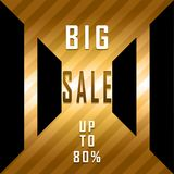 Big sale poster. Sale banner, up to 80 Stock Image