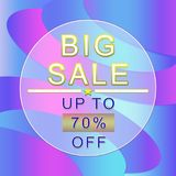 Big sale poster. Sale banner, 70% off Royalty Free Stock Photography