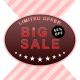 Big sale poster. Sale banner, 60% off Royalty Free Stock Photos