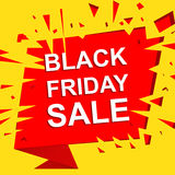 Big sale poster with BLACK FRIDAY SALE text. Advertising vector banner Stock Photo