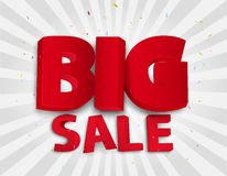 Big sale poster with colorful confetti Royalty Free Stock Image