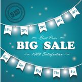 Big Sale poster, 5 days sale only Stock Photography
