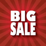 Big sale poster design with bold font and long Stock Image