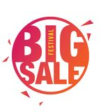 Big Sale Poster. Design With 50% Discount Tag Vector Illustration Stock Photography