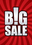 Big sale poster. Big sale font on red line shine graphic vector Royalty Free Stock Image