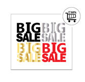 Big Sale poster. Big Sale inscription poster. Black Friday Sale discount background with shopping basket icon. Black Friday Sale. Cyber Monday. Christmas royalty free illustration