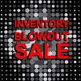 Big sale poster with INVENTORY BLOWOUT SALE text. Advertising vector banner Stock Photos