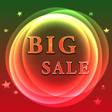 Big sale poster Stock Image