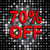Big sale poster with 60 PERCENT OFF text. Advertising vector banner. Big sale poster with 60 PERCENT OFF text. Advertising monochrome and red vector banner Stock Photo