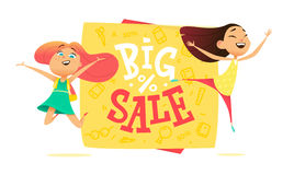 Big sale poster for school theme. Stock Image