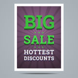 Big sale poster with stars shape and background Stock Photos