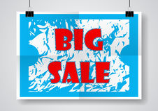Big Sale Poster Vector Stock Image