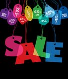 Big Sale and price tags Royalty Free Stock Images