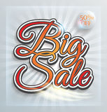Big Sale print poster Royalty Free Stock Images