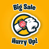 Big Sale Promo badge design Royalty Free Stock Photography
