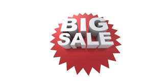 Big sale promo department store Royalty Free Stock Photos