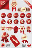 Big sale promo vector symbol Royalty Free Stock Image