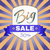 Big Sale Promotion Flyer. Royalty Free Stock Image