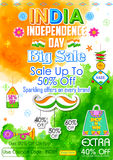 Big Sale promotion for India Independence Day Royalty Free Stock Images