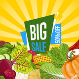 Big sale proposition for farm food banner Stock Photos