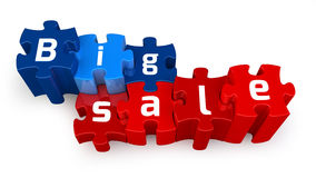 BIG SALE puzzle Stock Image