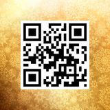 Big Sale in qr code on christmas. EPS 10 Stock Photo