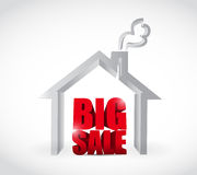 Big sale real estate business sign Stock Image