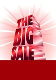 The Big Sale_red Royalty Free Stock Photo