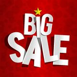Big Sale On Red Background Royalty Free Stock Photo