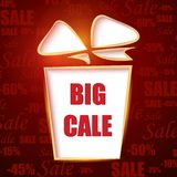 Big sale. Red background. Royalty Free Stock Images