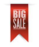 Big sale red banner illustration design Royalty Free Stock Photos