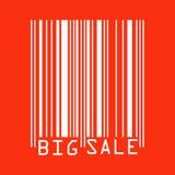 Big Sale red bar codes.  Stock Photos