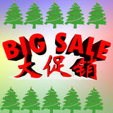 Big sale red color for Christmas Stock Photos