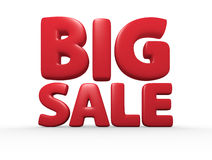 Big Sale. Red 3d rendered big sale text Royalty Free Stock Photography