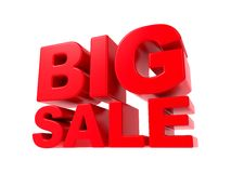 Big Sale - Red 3D Text. Stock Photos