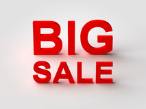 Big Sale Red 3d Text Royalty Free Stock Photos