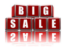 Big sale with reflection Royalty Free Stock Photography