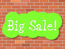 Big Sale Represents Savings Promotional And Save Royalty Free Stock Photo