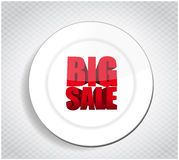 Big sale restaurant plate business sign Stock Image