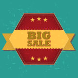 Big sale retro label Royalty Free Stock Photos