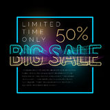 Big Sale retro poster. Original banner for discount. Royalty Free Stock Photos