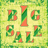 Big Sale retro poster. Is useful as  advertising material for  retail  trade. Grunge effect make this poster more catchy Royalty Free Stock Image