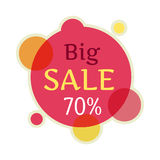 Big Sale Round Banner Isolated. 70 Percent Royalty Free Stock Photography
