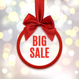 Big sale, round banner. Stock Images