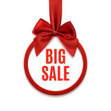 Big sale, round banner. Stock Photography