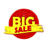 Big sale round drawn label Royalty Free Stock Photos