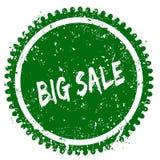 BIG SALE round grunge green stamp. Illustration concept Stock Photo